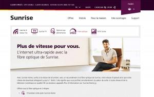 Sunrise propose de la fibre optique sur Lausanne.