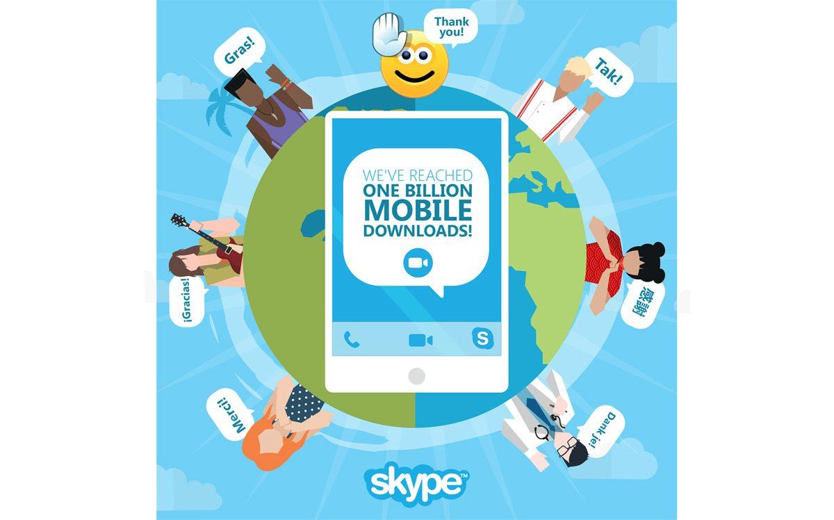 Applications Skype: un milliard de téléchargements.