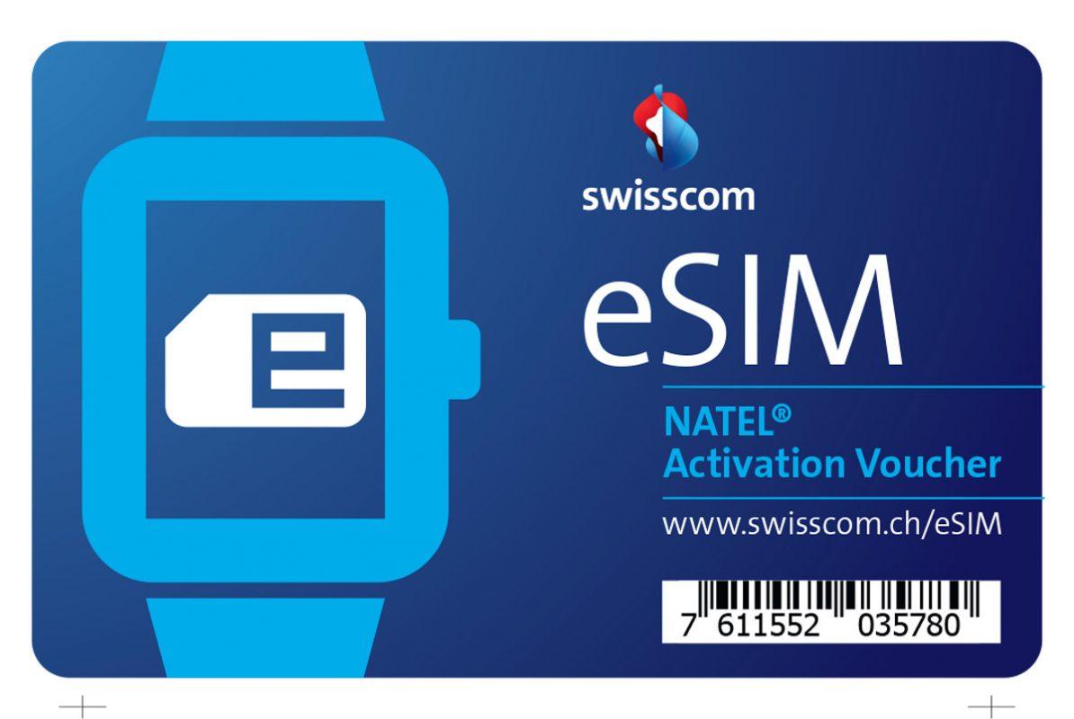 Le voucher eSIM de Swisscom.