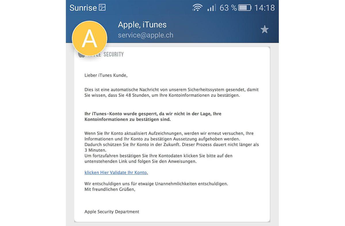 iTunes. un exemple de Spam.
