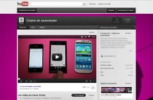 Le canal YouTube de xavierstuder.com