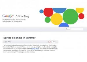 Nettoyage de printemps en été chez Google...
