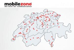 Le réseau Mobilezone en Suisse.