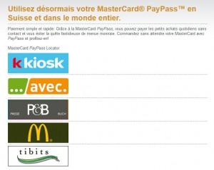 PayPass et NFC en Suisse.