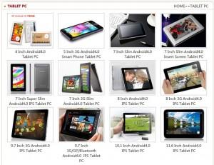 Les tablettes d'oxdigi.com.