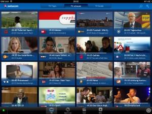 Swisscom TV: l'application convergente par excellence.