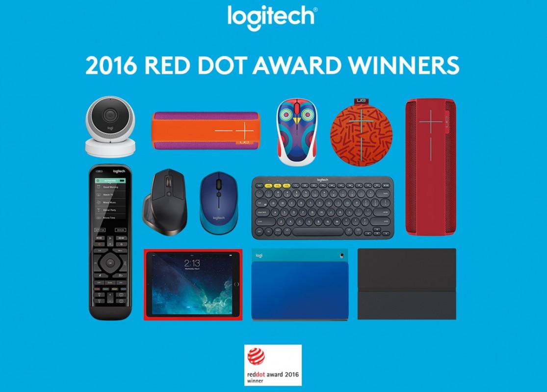 Logitech remporte neuf «Red Dot 2015 Product Design Awards» .