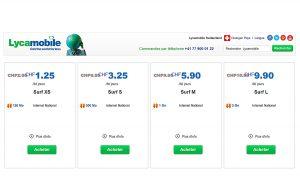 Surf Mobile Et Pourquoi Pas 1 Go A 5 90 Francs Chez Lycamobile