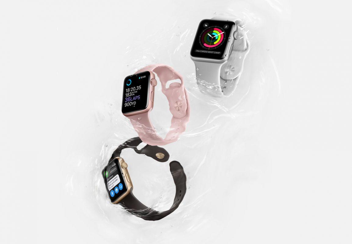 Apple Watch series 2 étanche à 50 mètres.