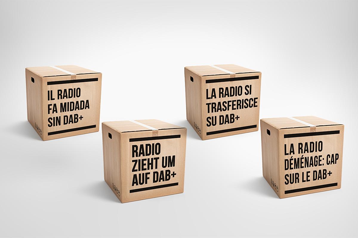 La nouvelle campagne pour le DAB+ intitulée «La radio déménage».
