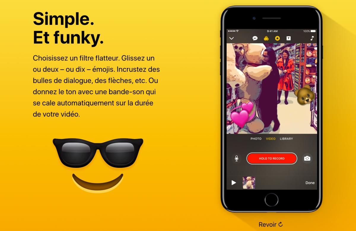 Clips: petit test de l'application vidéo à la mode d'Apple.