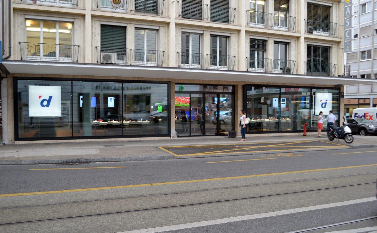 Digitec table sur 10'000 clients par mois dans son nouveau magasin de Genève.